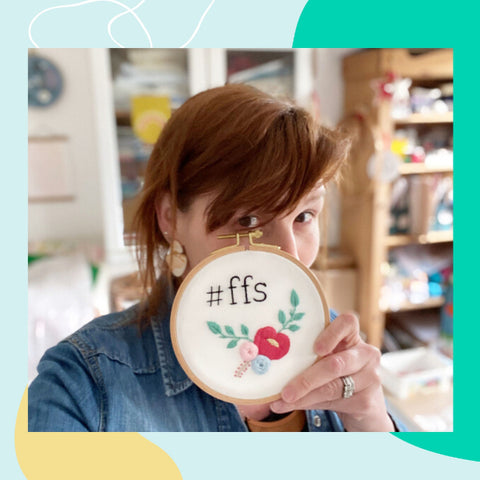 Meet the maker behind the brand The Messy Brunette, Maura - Maker of colourful hand painted jewellery and embroidery kits - based in Tipperary, Ireland