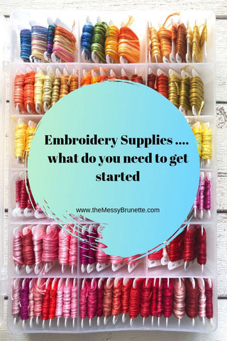 embroidery supplies for the beginner