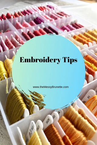 tips on hand embroidery stitching
