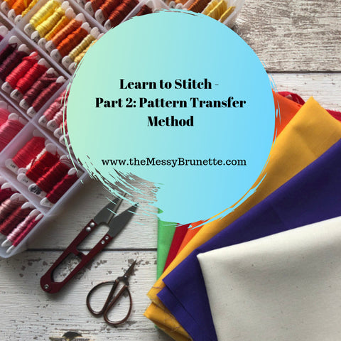 learn to stitch pattern transfer method for embroidery