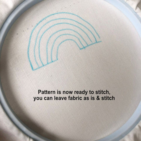 how to transfer your embroidery pattern to the fabric