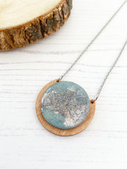celestial inspired handmade necklace