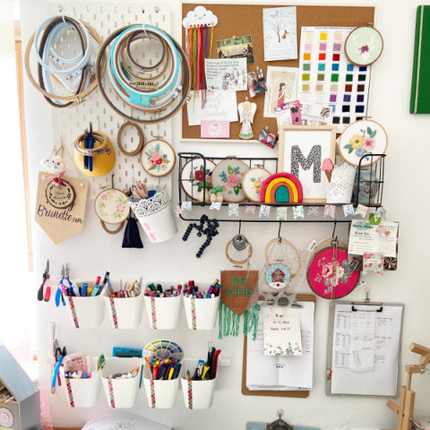 The Messy Brunette | Maker of colourful hand painted wood jewellery