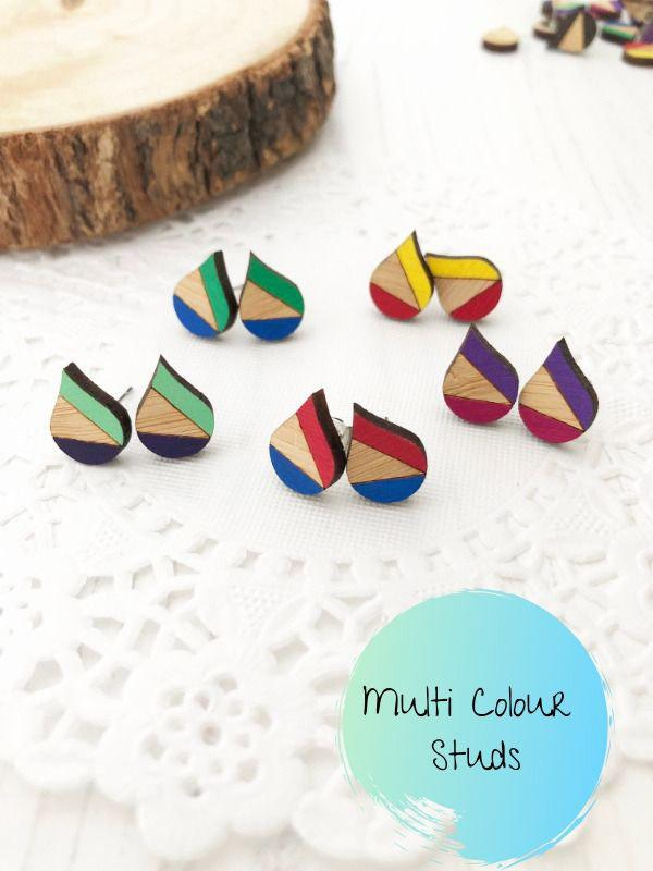 Eco Friendly Colourful Stud Earrings