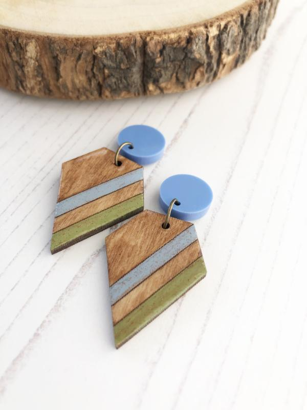 colourful geometric earrings