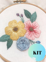Big Florals Hand Embroidery Kit