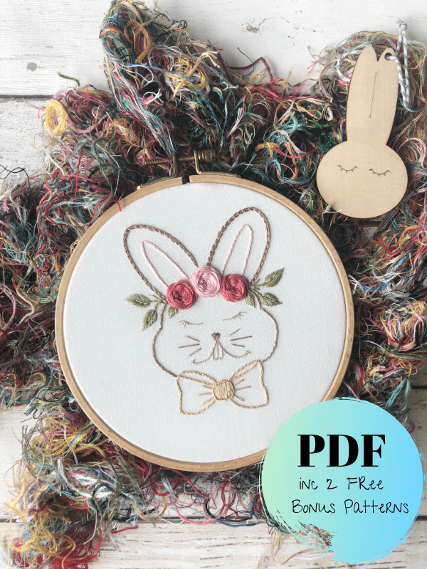 hand embroidery bunny pdf pattern