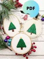 Christmas Tree Hand Embroidery PDF Pattern