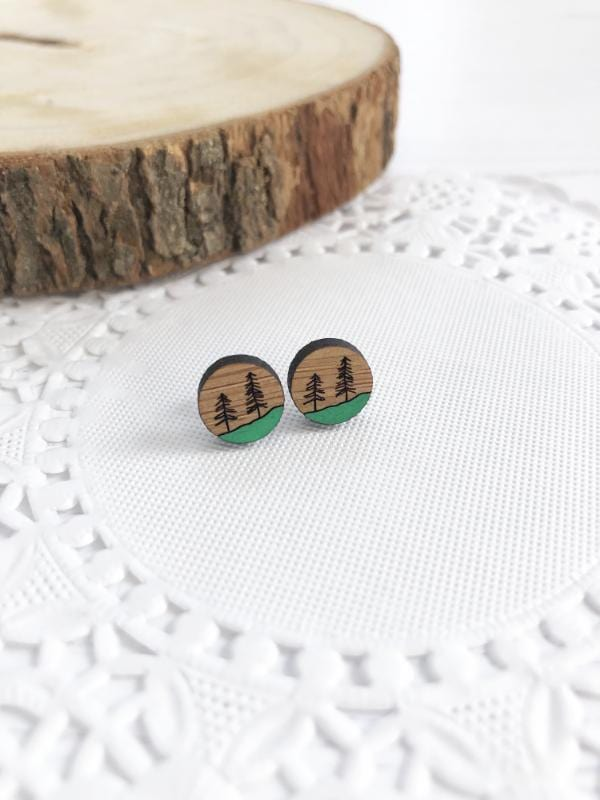 Eco Friendly Forest Stud Earrings