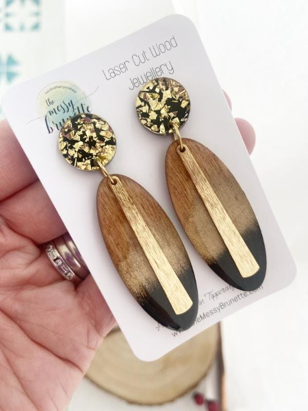 Black & Gold Statement Earrings