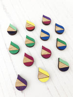 bright colourful everyday stud earrings