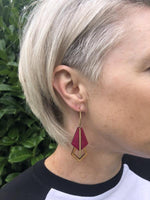 Gatsby Hoop Earrings in pink