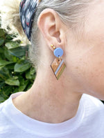 Colourful Geometric Stripe Earrings