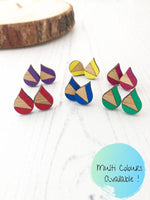 Bright Colourful Everyday Stud Earrings in Various Colours