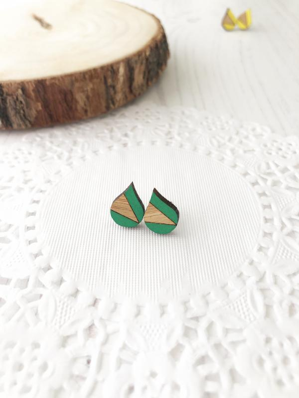 bright colourful everyday stud earrings in green