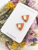 Triangle Studs | Orange Triangle Studs
