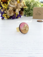 Pink & Gold Handmade Ring