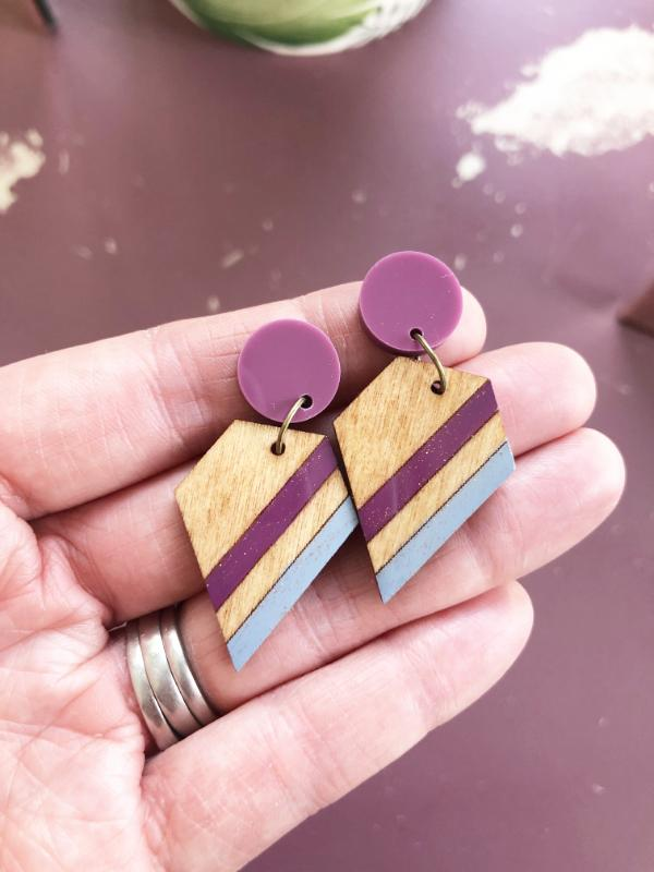 eco friendly geometric earrings