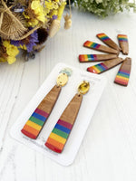 Rainbow Bar Earrings | Pride Earrings