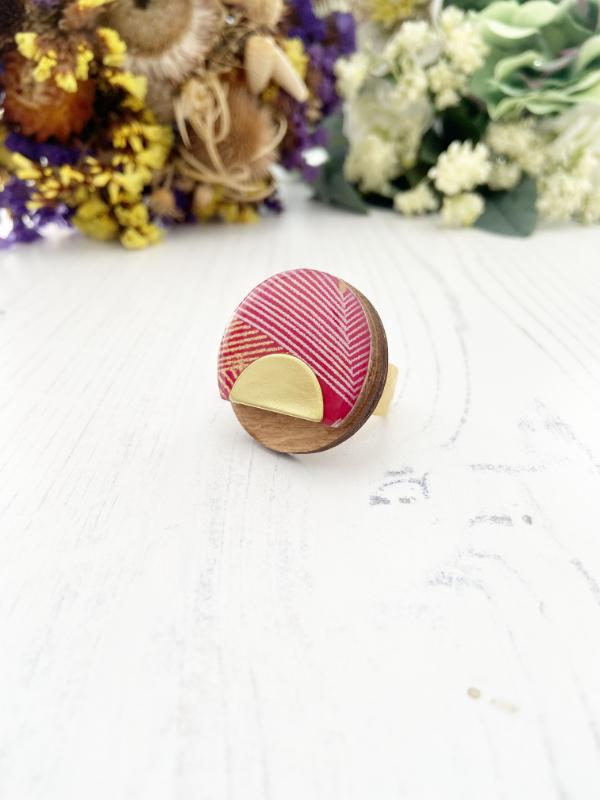 Geometric Wood Ring