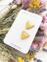 Triangle Studs | Yellow Triangle Studs