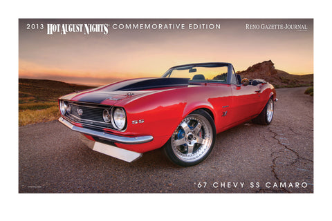 1967 Chevrolet SS Camaro Hot August Nights poster