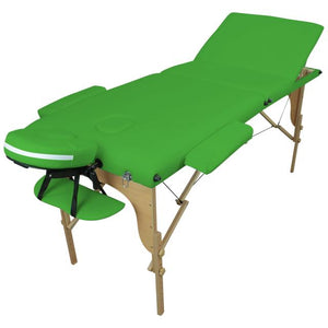 Table pliante thérapeutique de massage verte 3 zones
