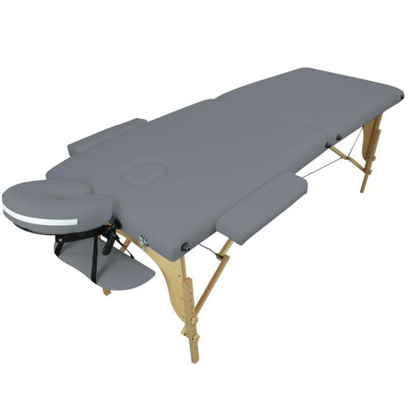 Table pliante thérapeutique de massage grise 2 zones