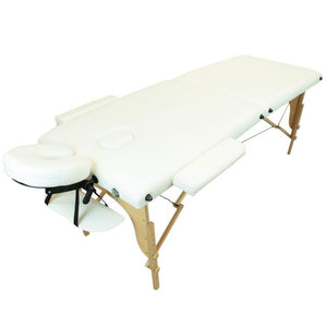 Table pliante thérapeutique de massage blanche 2 zones