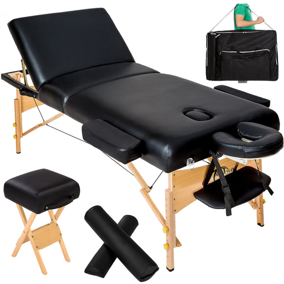 Table pliante thérapeutique de massage ép. 10cm 3 zones