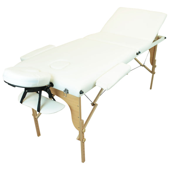 Table pliante thérapeutique de massage blanche 3 zones
