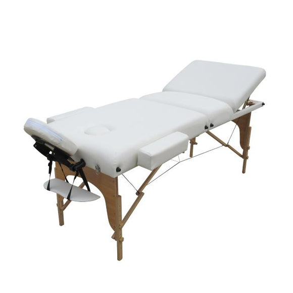 Table pliante thérapeutique de massage blanche 3 zones ép 10cm