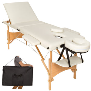 Table pliante thérapeutique de massage beige 3 zones