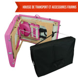 Table pliante thérapeutique de massage rose 2 zones