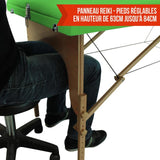 Table pliante thérapeutique de massage verte 2 zones