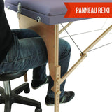 Table pliante thérapeutique de massage violette 3 zones