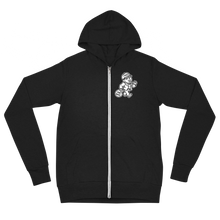 Load image into Gallery viewer, THE BAG ZIP UP HOODIE / BLACK