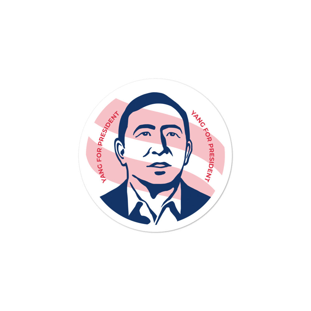 YANG FOR PRESIDENT STICKER