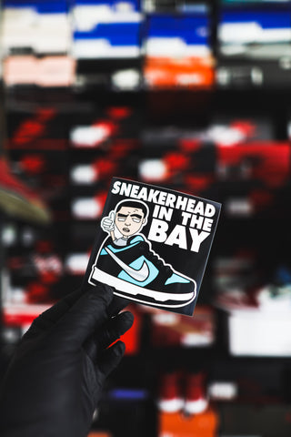 SNEAKERHEADINTHEBAY VINYL STICKER