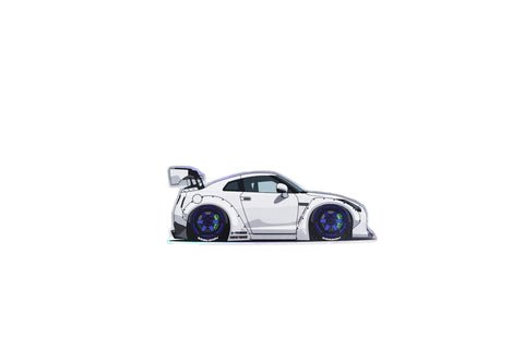 Mini GTR Holographic Vinyl Sticker