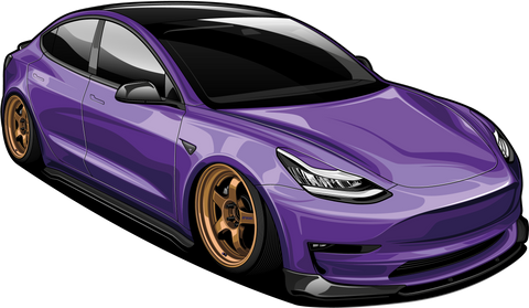 Holographic Tesla Model 3 Sticker *Pre-Order*
