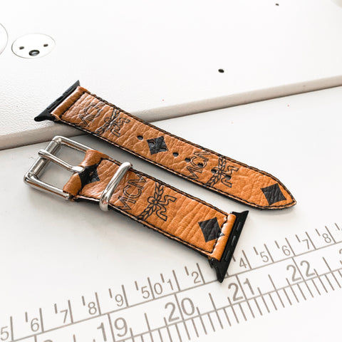 Custom Cognac Apple Watch Band