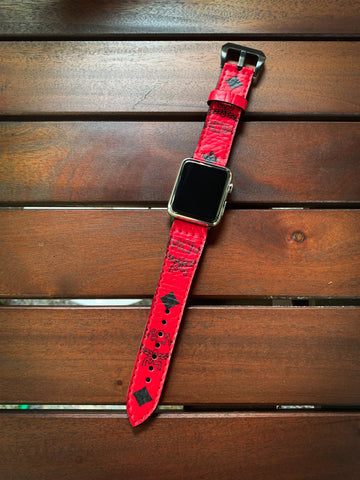 Custom Candy Red Apple Watch Band