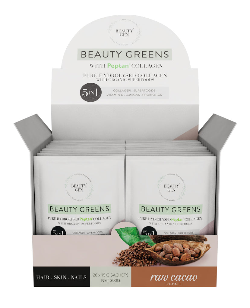 Beauty Greens® Collagen Raw Cacao Sachets