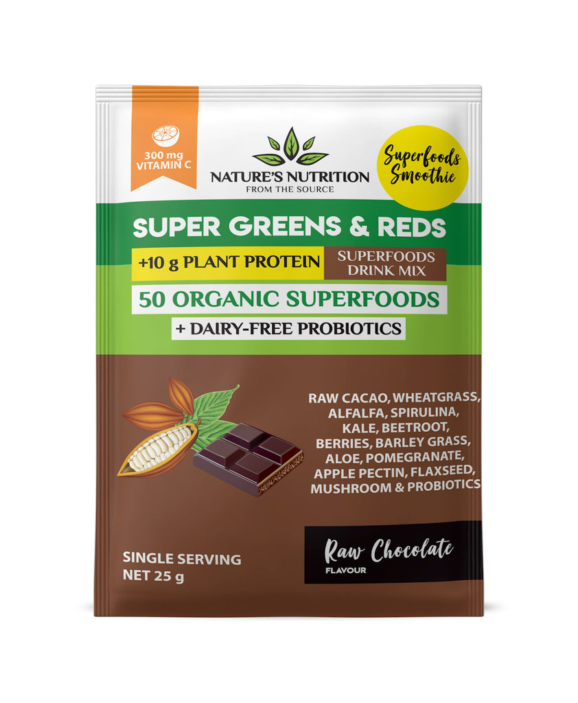 Raw Chocolate Superfoods Drink Mix Sachets