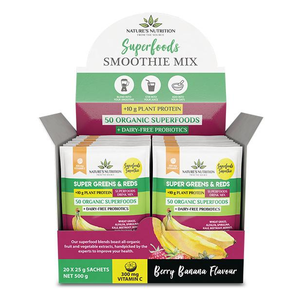 Berry Banana Superfoods Drink Mix Sachets