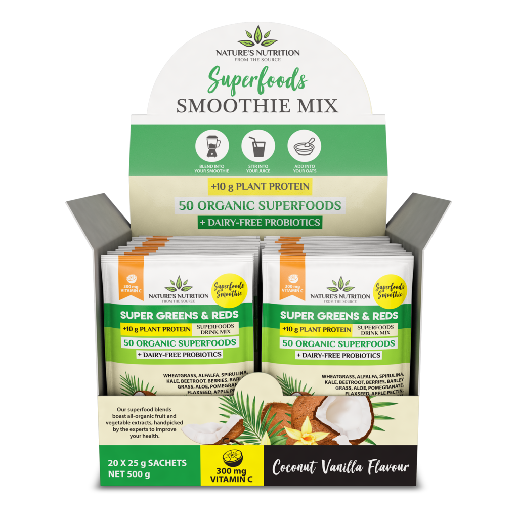 Coconut Vanilla Superfoods Drink Mix Sachets