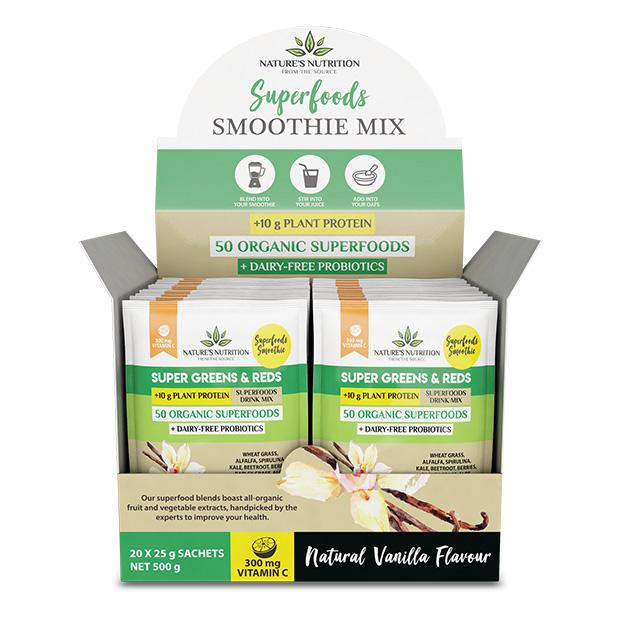 Natural Vanilla Superfoods Drink Mix Sachets