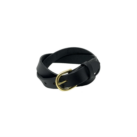 "Last State Leather - Everyday 1"" Belt - Black/Brass"