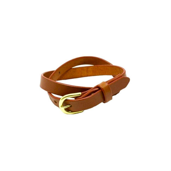 "Last State Leather - Everyday 1"" Belt - Chestnut/Brass"